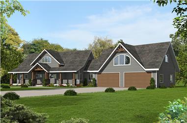 3-Bedroom, 2750 Sq Ft Craftsman Home Plan - 132-1628 - Main Exterior