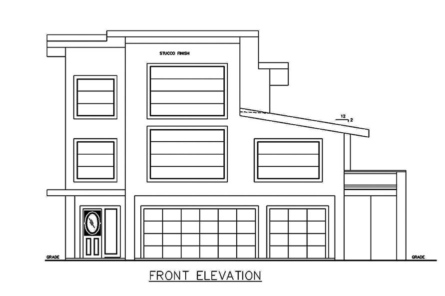 Home Plan Front Elevation of this 3-Bedroom,3142 Sq Ft Plan -132-1629