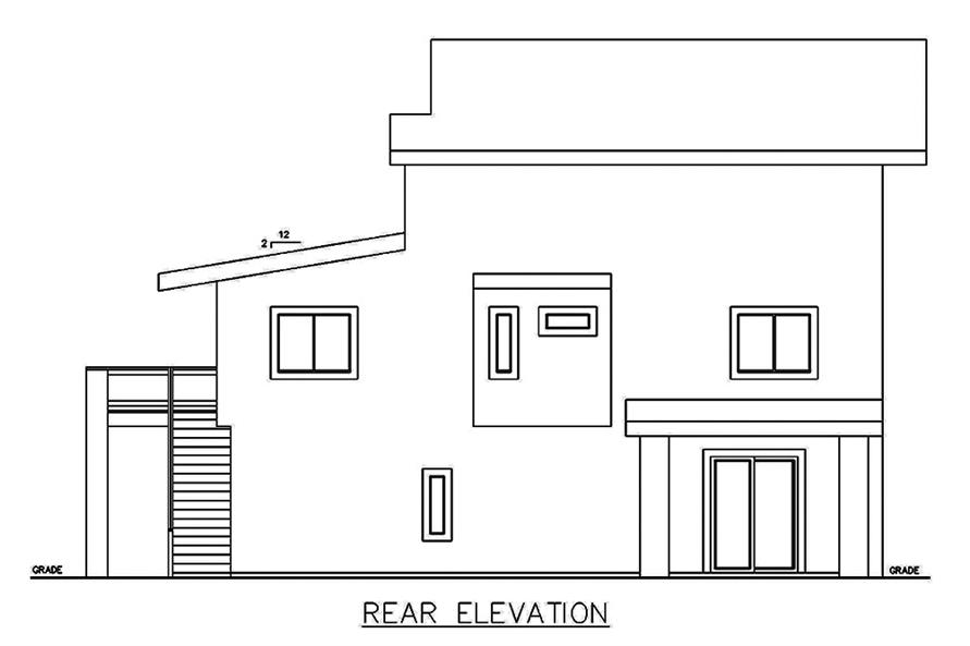 Home Plan Rear Elevation of this 3-Bedroom,3142 Sq Ft Plan -132-1629