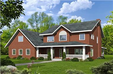 3-Bedroom, 4651 Sq Ft Modern House Plan - 132-1630 - Front Exterior
