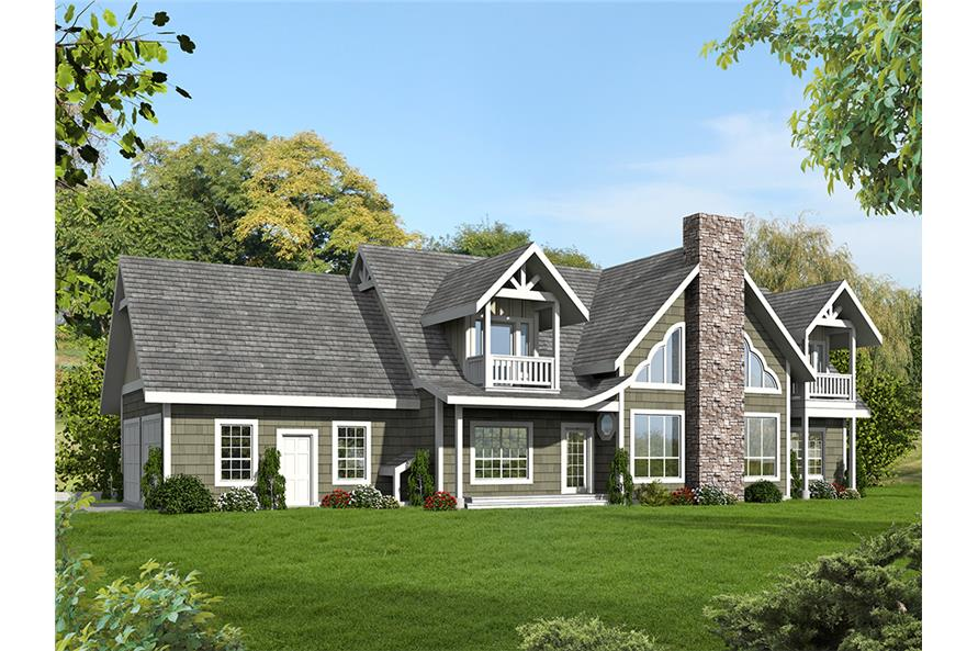 6-Bedroom, 5039 Sq Ft Modern Home Plan - 132-1631 - Main Exterior