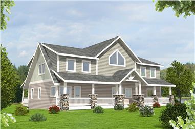 3-Bedroom, 4251 Sq Ft Craftsman House Plan - 132-1633 - Front Exterior
