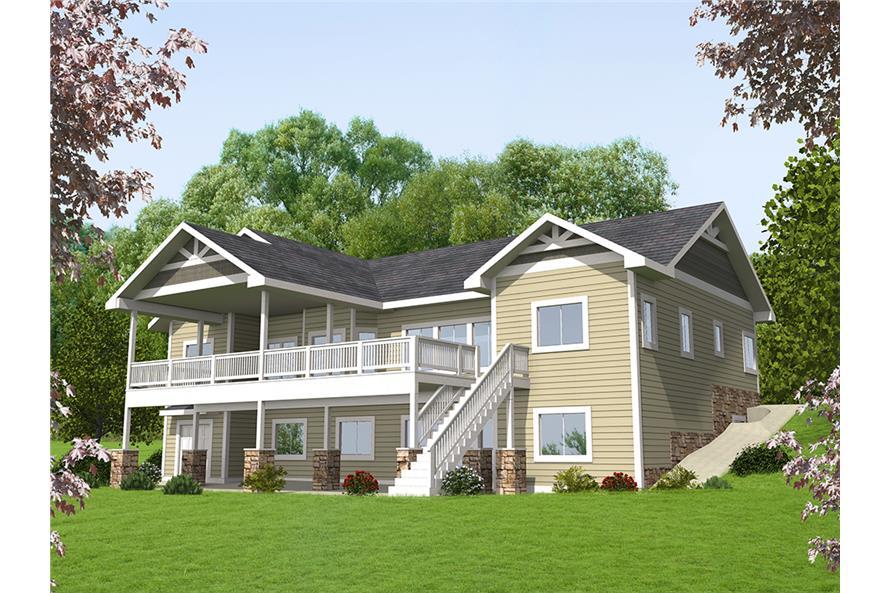 5-Bedroom, 4364 Sq Ft Craftsman House Plan - 132-1635 - Front Exterior