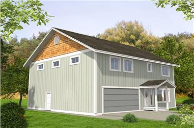 3-Bedroom, 2540 Sq Ft Cottage House Plan - 132-1636 - Front Exterior