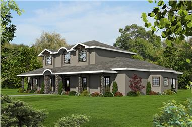7-Bedroom, 5000 Sq Ft Traditional Home Plan - 132-1639 - Main Exterior