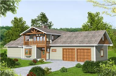 1-Bedroom, 1784 Sq Ft Cottage Home Plan - 132-1646 - Main Exterior