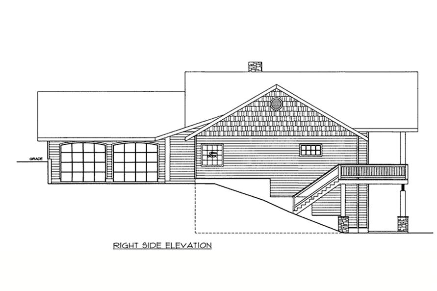 Home Plan Right Elevation of this 2-Bedroom,3206 Sq Ft Plan -132-1649