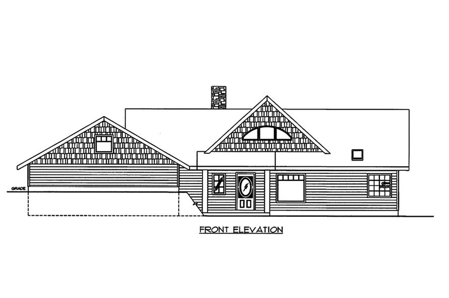 Home Plan Front Elevation of this 2-Bedroom,3206 Sq Ft Plan -132-1649