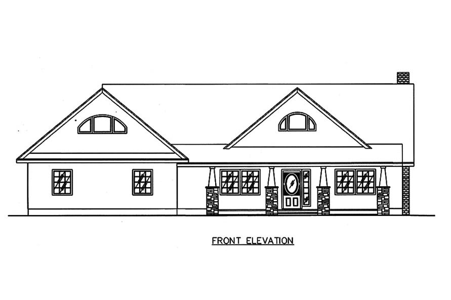 Home Plan Front Elevation of this 2-Bedroom,4730 Sq Ft Plan -132-1651