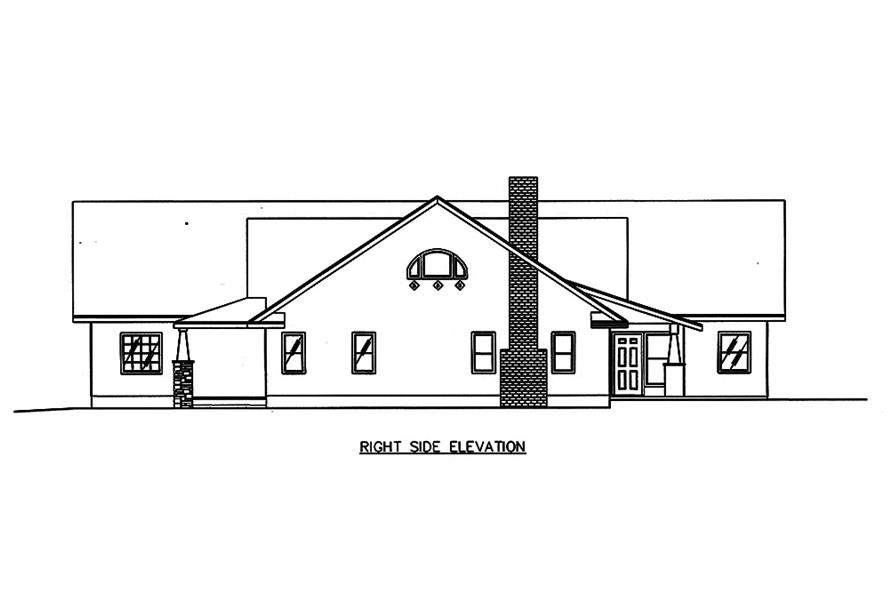 Home Plan Right Elevation of this 2-Bedroom,4730 Sq Ft Plan -132-1651