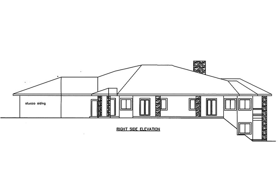 Home Plan Right Elevation of this 4-Bedroom,7871 Sq Ft Plan -132-1652
