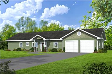 2-Bedroom, 1680 Sq Ft Ranch House Plan - 132-1654 - Front Exterior