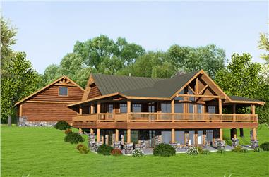 3-Bedroom, 3871 Sq Ft Cottage House Plan - 132-1655 - Front Exterior
