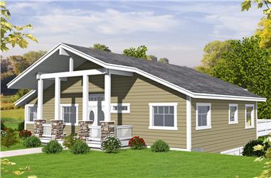 2-Bedroom, 2350 Sq Ft Cottage Home Plan - 132-1663 - Main Exterior