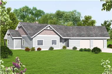 3-Bedroom, 2267 Sq Ft Cottage Home Plan - 132-1665 - Main Exterior