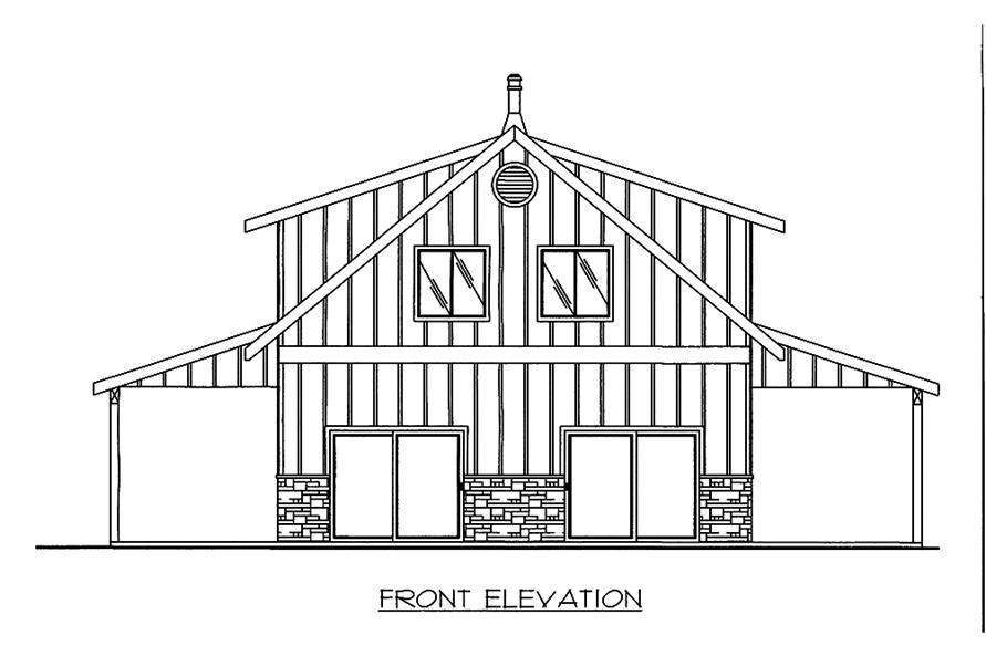 Home Plan Front Elevation of this 2-Bedroom,1978 Sq Ft Plan -132-1666