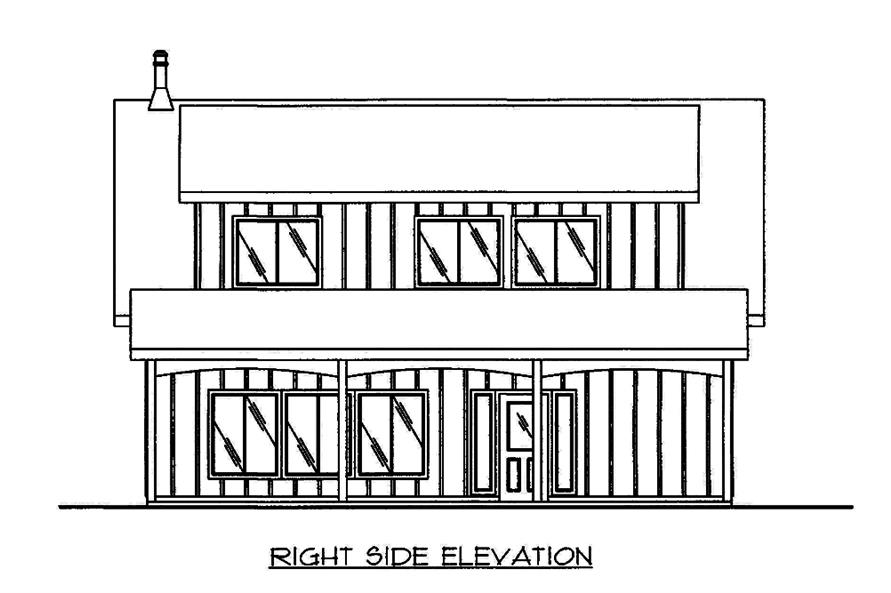 Home Plan Right Elevation of this 2-Bedroom,1978 Sq Ft Plan -132-1666