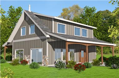 2-Bedroom, 1978 Sq Ft Cottage Home Plan - 132-1666 - Main Exterior