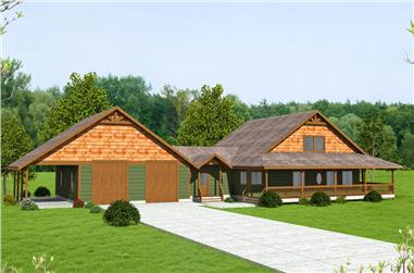 4-Bedroom, 3075 Sq Ft Cottage Home Plan - 132-1668 - Main Exterior