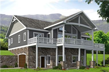 4-Bedroom, 2404 Sq Ft Cottage House Plan - 132-1673 - Front Exterior