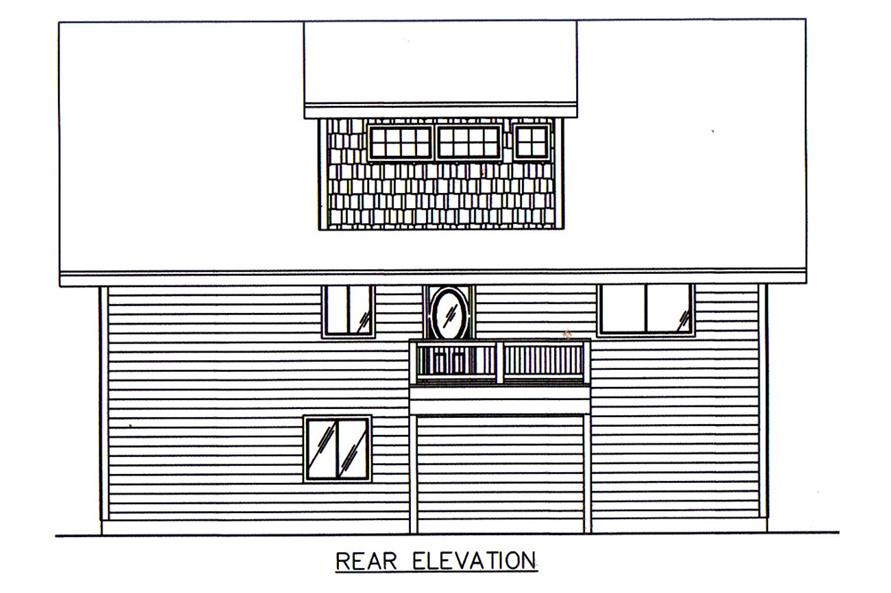 Home Plan Rear Elevation of this 2-Bedroom,2275 Sq Ft Plan -132-1674