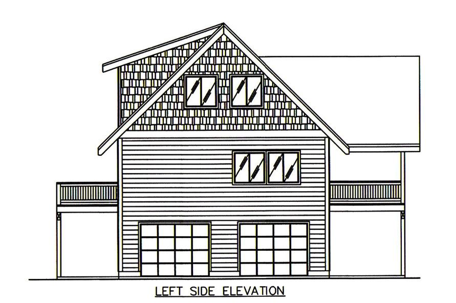 Home Plan Left Elevation of this 2-Bedroom,2275 Sq Ft Plan -132-1674