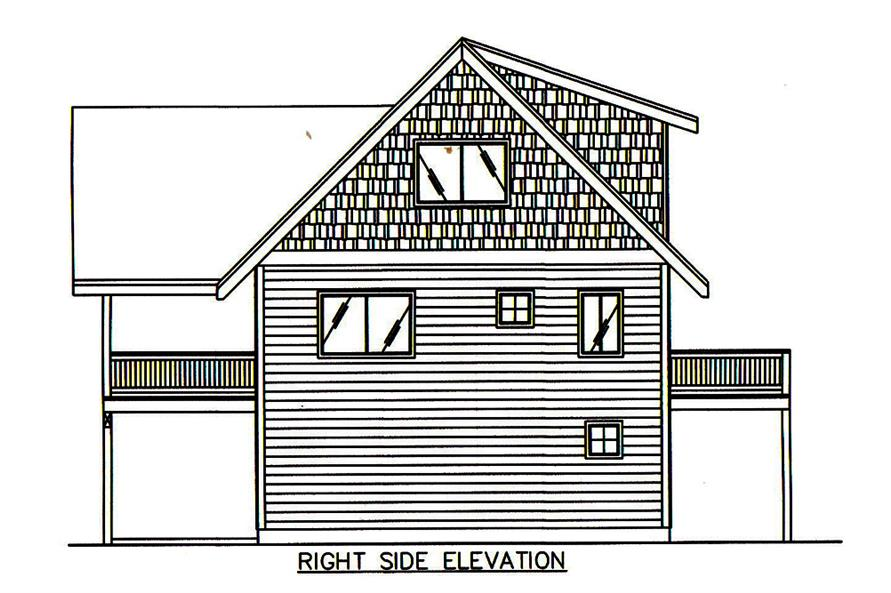 Home Plan Right Elevation of this 2-Bedroom,2275 Sq Ft Plan -132-1674