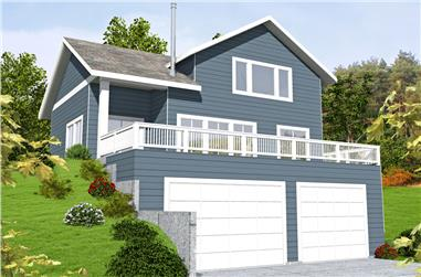 2-Bedroom, 1863 Sq Ft Cottage House Plan - 132-1675 - Front Exterior