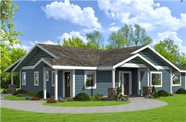 3-Bedroom, 1786 Sq Ft Ranch House Plan - 132-1677 - Front Exterior