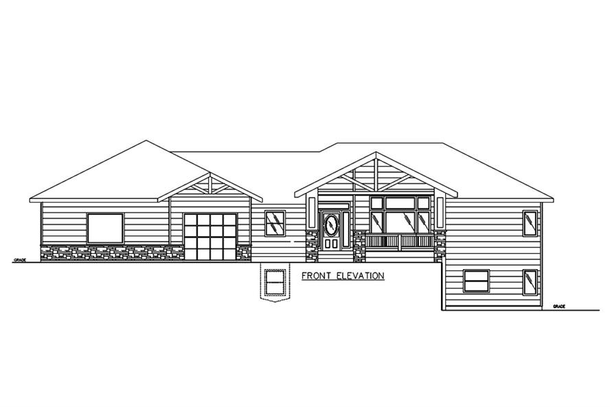 Home Plan Front Elevation of this 3-Bedroom,2838 Sq Ft Plan -132-1678