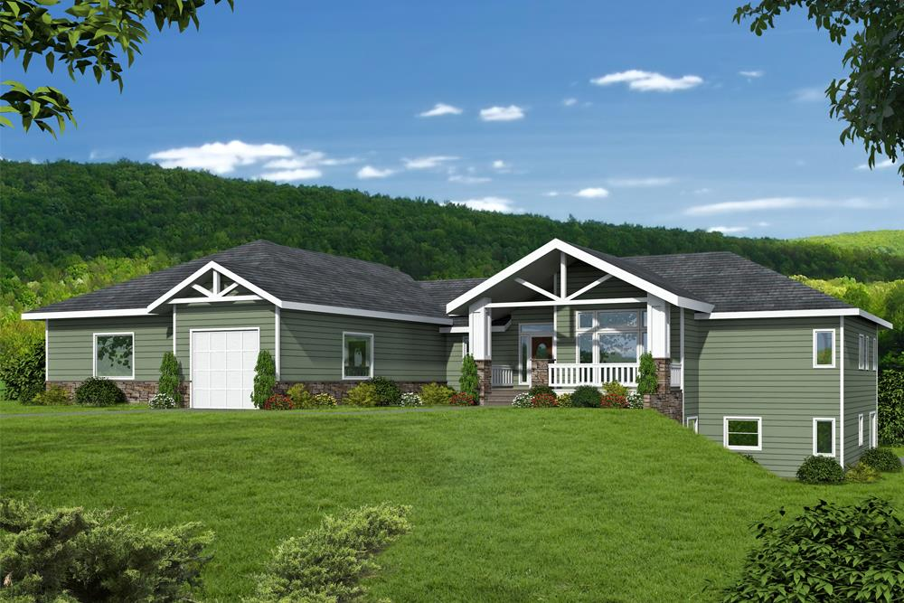 Front elevation of Coastal home (ThePlanCollection: House Plan #132-1678)