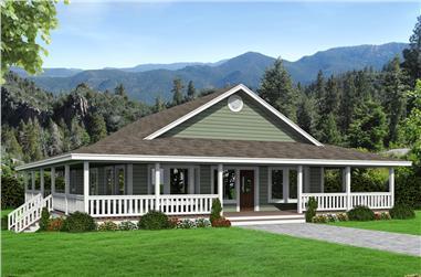 2-Bedroom, 1565 Sq Ft Ranch Home Plan - 132-1679 - Main Exterior