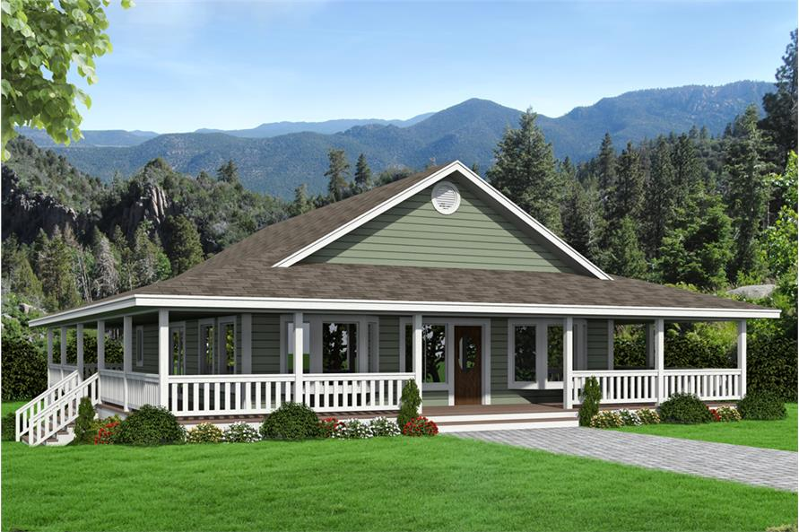 2 Bedrm, 1565 Sq Ft Ranch House Plan #132-1679