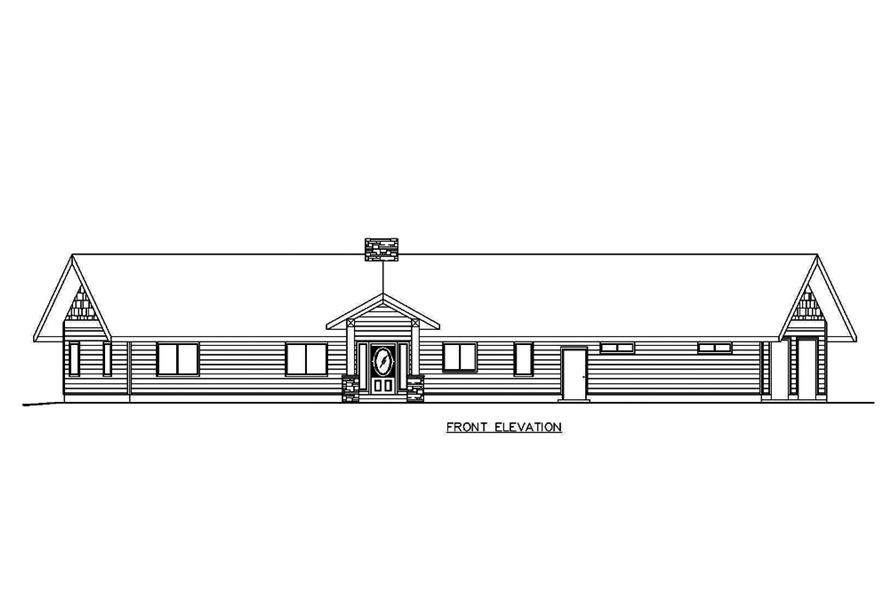 Home Plan Front Elevation of this 2-Bedroom,1890 Sq Ft Plan -132-1680