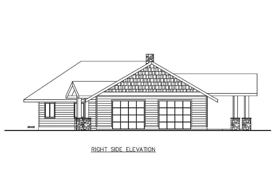 Home Plan Right Elevation of this 2-Bedroom,1890 Sq Ft Plan -132-1680