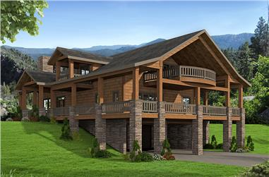3-Bedroom, 2734 Sq Ft Country Home Plan - 132-1681 - Main Exterior