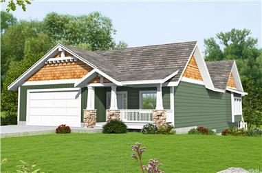 3-Bedroom, 3233 Sq Ft Cottage Home Plan - 132-1682 - Main Exterior