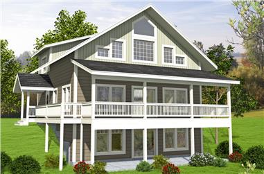 Front elevation of Country home (ThePlanCollection: House Plan #132-1684)