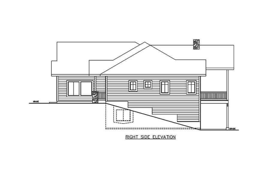 Home Plan Right Elevation of this 5-Bedroom,3628 Sq Ft Plan -132-1686
