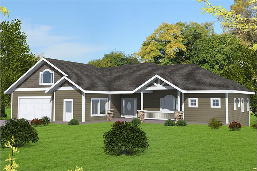 5-Bedroom, 3628 Sq Ft Country Home Plan - 132-1686 - Main Exterior