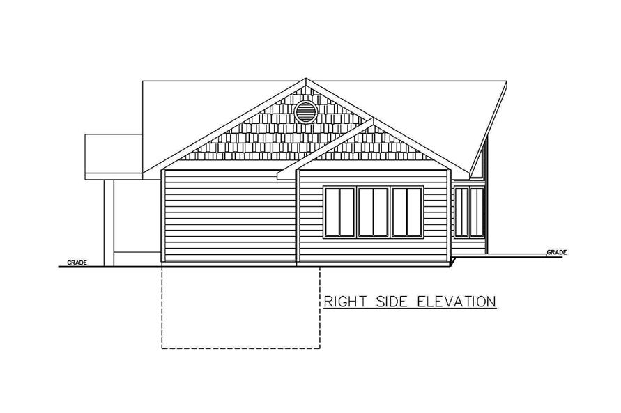 Home Plan Right Elevation of this 2-Bedroom,1978 Sq Ft Plan -132-1687