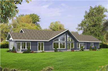 Front elevation of Ranch home (ThePlanCollection: House Plan #132-1687)