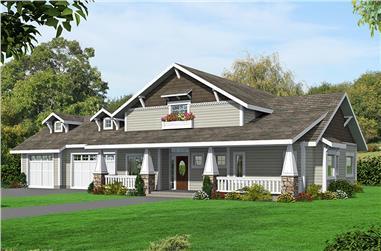 2-Bedroom, 4013 Sq Ft Craftsman Home Plan - 132-1693 - Main Exterior