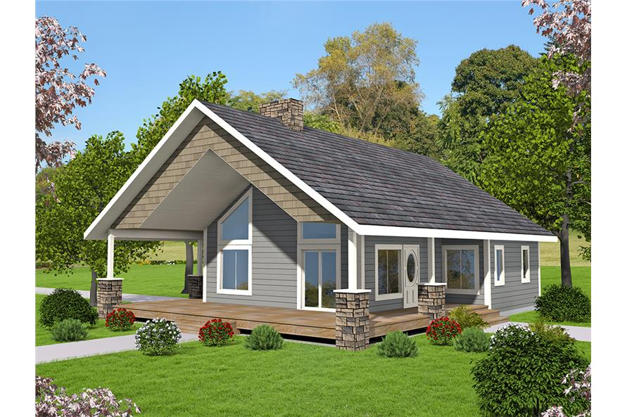 2-Bedroom, 1176 Sq Ft Small House Plans - 132-1697 - Front Exterior
