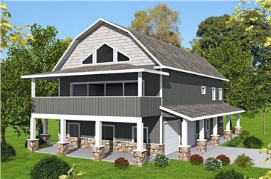 2-Bedroom, 3005 Sq Ft Country House Plan - 132-1701 - Front Exterior