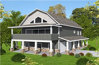 Front elevation of Country home (ThePlanCollection: House Plan #132-1701)