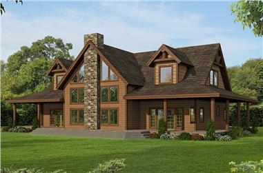 3-Bedroom, 3967 Sq Ft Country Home Plan - 132-1703 - Main Exterior