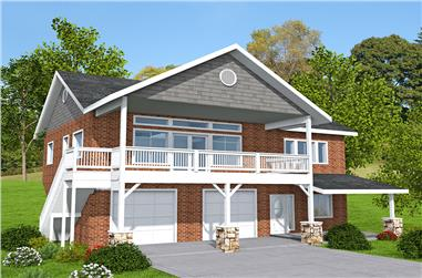 Front elevation of Country home (ThePlanCollection: House Plan #132-1705)