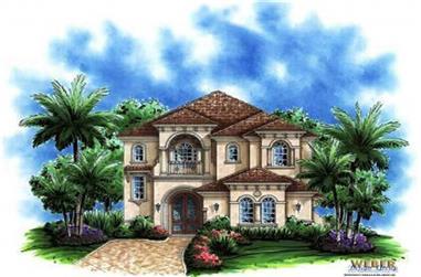 3-Bedroom, 3577 Sq Ft Mediterranean Home Plan - 133-1000 - Main Exterior