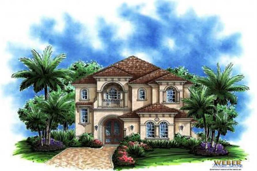 3-Bedroom, 3577 Sq Ft Mediterranean Home Plan - 133-1000 - Main Exterior